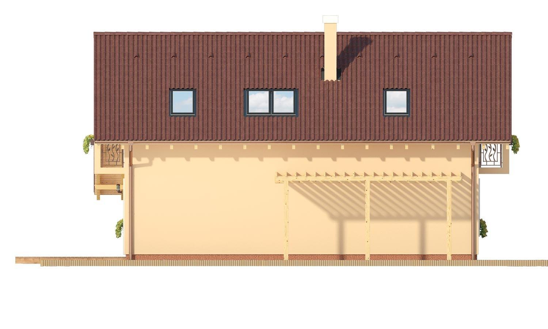 Pohľad 4. - Veľký dom s izbou aj na prízemí vhodný pre bývanie 5-6 člennej rodiny.