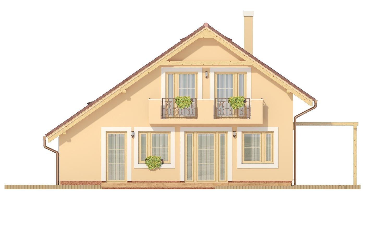 Pohľad 3. - Veľký dom s izbou aj na prízemí vhodný pre bývanie 5-6 člennej rodiny.