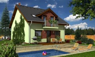 Krásny dom s garážou aj na úzky pozemok.