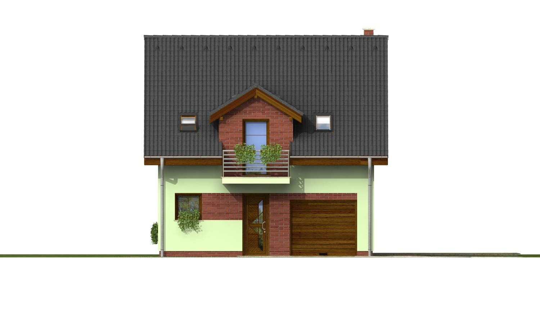Pohľad 1. - Krásny dom s garážou aj na úzky pozemok.