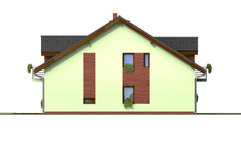 Pohľad 2. - Krásny dom s garážou aj na úzky pozemok.