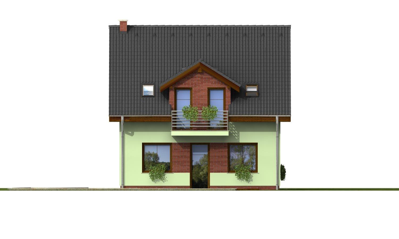 Pohľad 3. - Krásny dom s garážou aj na úzky pozemok.