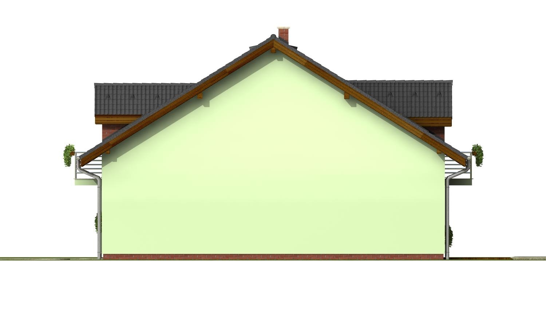 Pohľad 4. - Krásny dom s garážou aj na úzky pozemok.