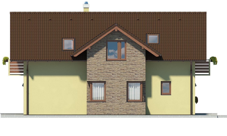 Pohľad 4. - Dom s oddelenou kuchyňou a izbou na prízemí