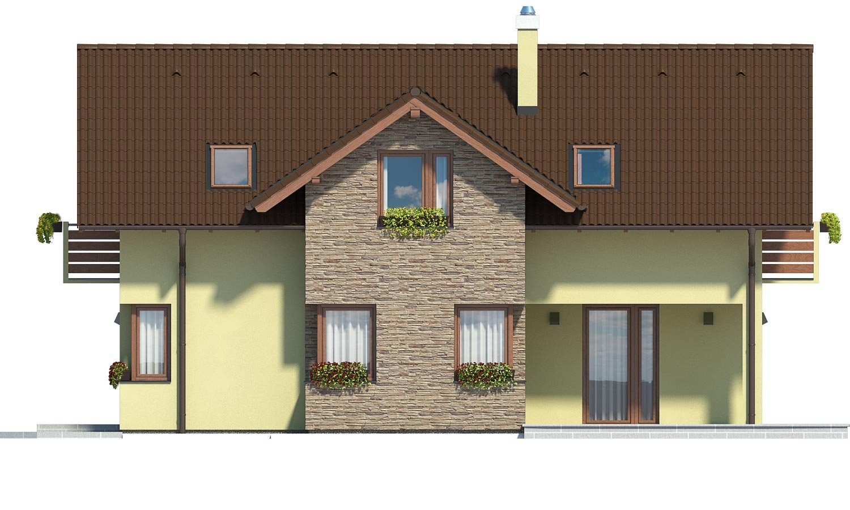 Pohľad 2. - Dom s oddelenou kuchyňou a izbou na prízemí