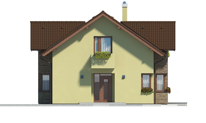Pohľad 1. - Dom s oddelenou kuchyňou a izbou na prízemí