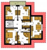 Pôdorys poschodia - PREMIUM 214