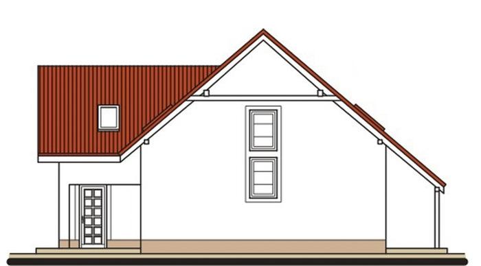 Pohľad 2. - Veľký rodinný dom s garážou a izbou aj na prízemí.
