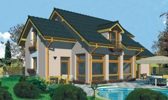Dom s krásne presvetlenou obývačkou