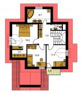 Pôdorys poschodia - PREMIUM 218