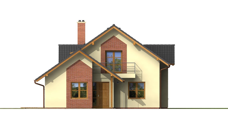 Pohľad 1. - Projekt 5-izbového domu s izbou na prízemí