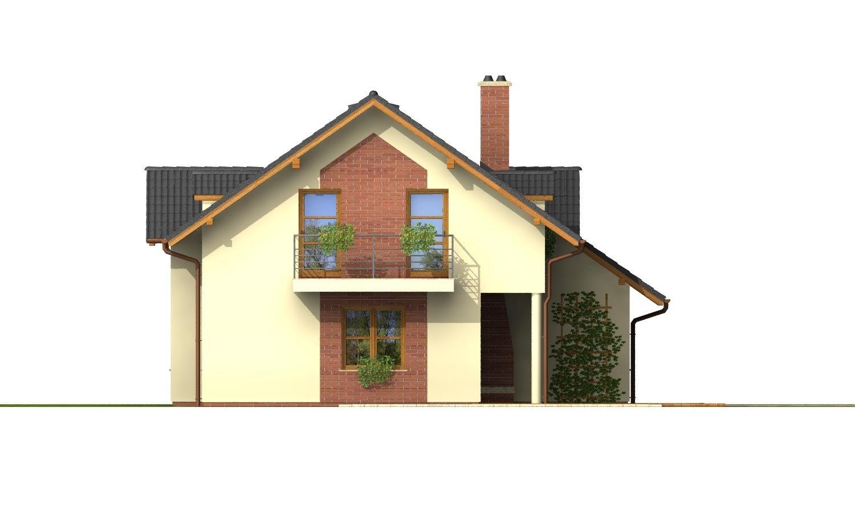 Pohľad 3. - Projekt 5-izbového domu s izbou na prízemí