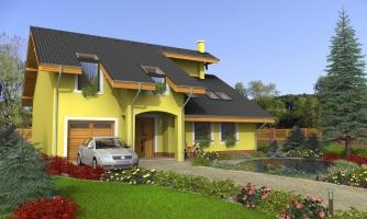 Podmaňujúci dom s garážou
