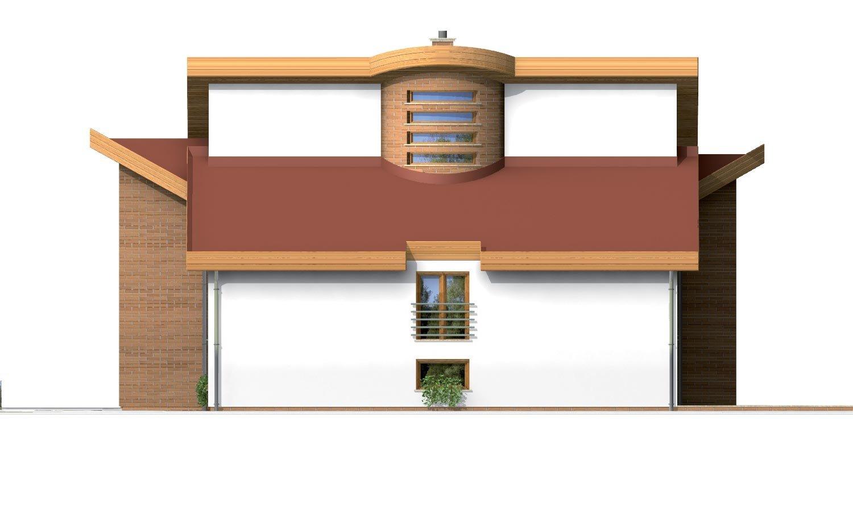 Pohľad 2. - Moderný rodinný dom s garážou v suteréne.