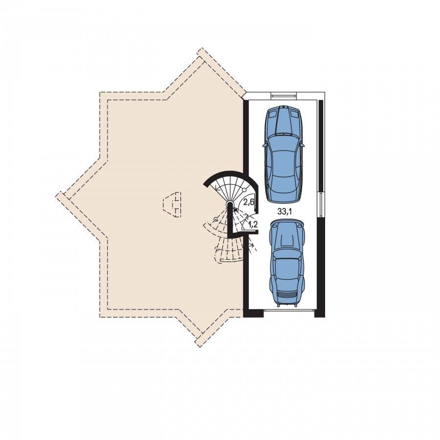 Pôdorys Suterénu - Úžasný moderný rodinný dom s garážou