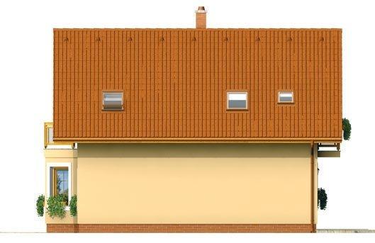 Pohľad 4. - Menší dom vhodný aj na úzky pozemok