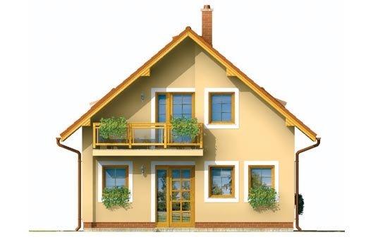 Pohľad 1. - Menší dom vhodný aj na úzky pozemok