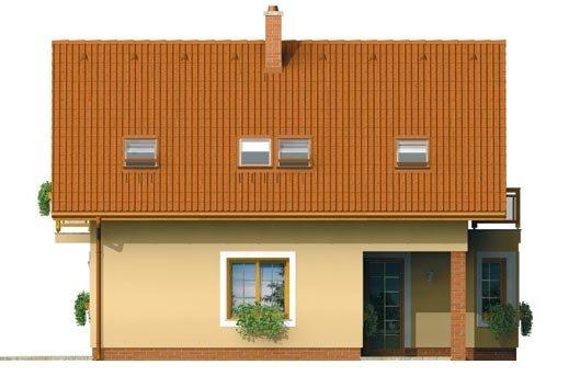 Pohľad 2. - Menší dom vhodný aj na úzky pozemok
