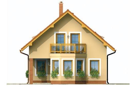 Pohľad 3. - Menší dom vhodný aj na úzky pozemok