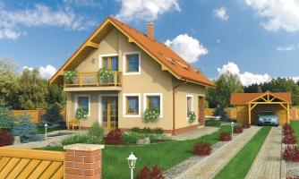 Menší dom vhodný aj na úzky pozemok