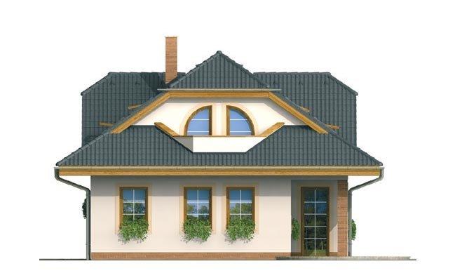 Pohľad 3. - Zaujímavý dom s obytným podkrovím a garážou.