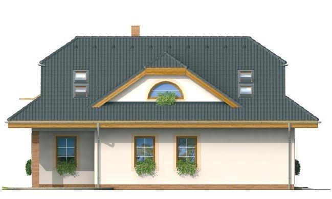 Pohľad 4. - Zaujímavý dom s obytným podkrovím a garážou.