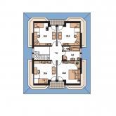 Zrkadlový obraz | Pôdorys poschodia - RIVIERA 200