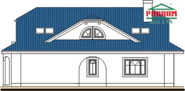 Pohľad 2. - Priestranný rodinný dom s veľkým suterénom a garážou.