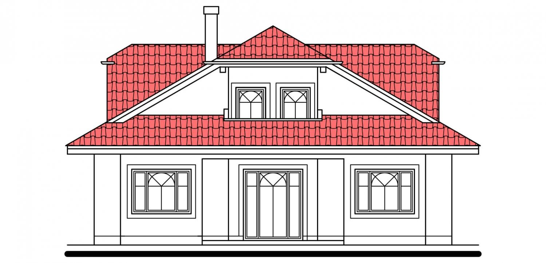 Pohľad 3. - Priestranný rodinný dom s veľkým suterénom a garážou.