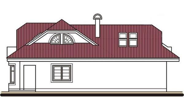 Pohľad 2. - Projekt domu s veľkou spálňou a dvojgarážou