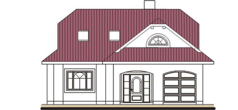 Pohľad 1. - Rodinný dom so suterénom, veľkými izbami a garážou.