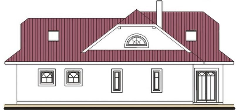 Pohľad 2. - Rodinný dom so suterénom, veľkými izbami a garážou.