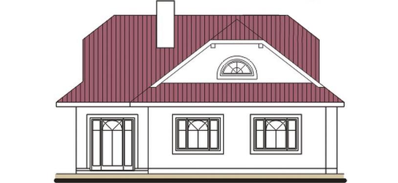 Pohľad 3. - Rodinný dom so suterénom, veľkými izbami a garážou.