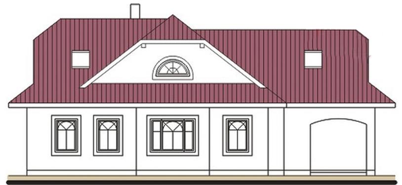 Pohľad 4. - Rodinný dom so suterénom, veľkými izbami a garážou.