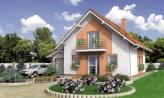 Úzky dom s garážou, vhodný ake chata alebo záhradný domček