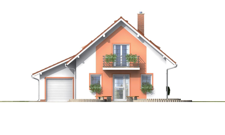 Pohľad 1. - Úzky dom s garážou, vhodný ake chata alebo záhradný domček