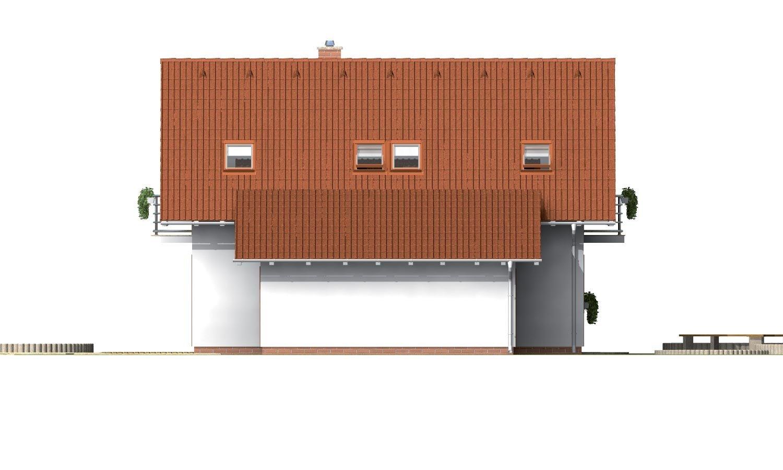 Pohľad 2. - Úzky dom s garážou, vhodný ake chata alebo záhradný domček