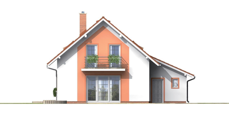 Pohľad 3. - Úzky dom s garážou, vhodný ake chata alebo záhradný domček