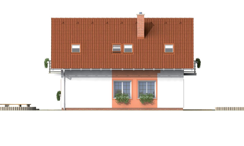 Pohľad 4. - Úzky dom s garážou, vhodný ake chata alebo záhradný domček