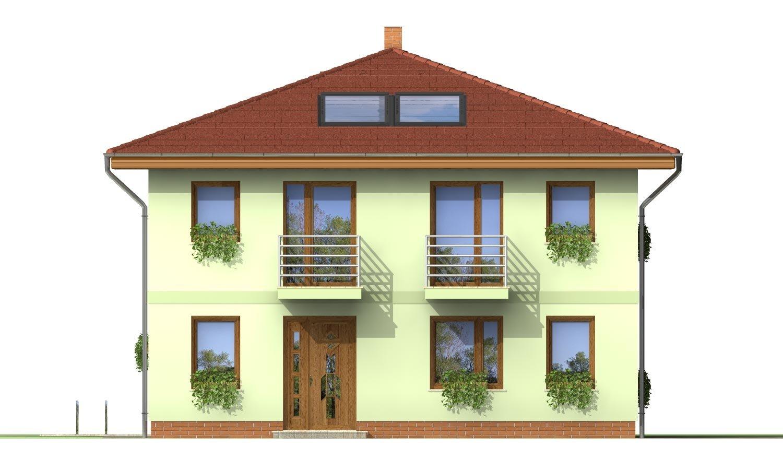 Pohľad 1. - Klasický poschodový rodinný dom so stanovou strechou