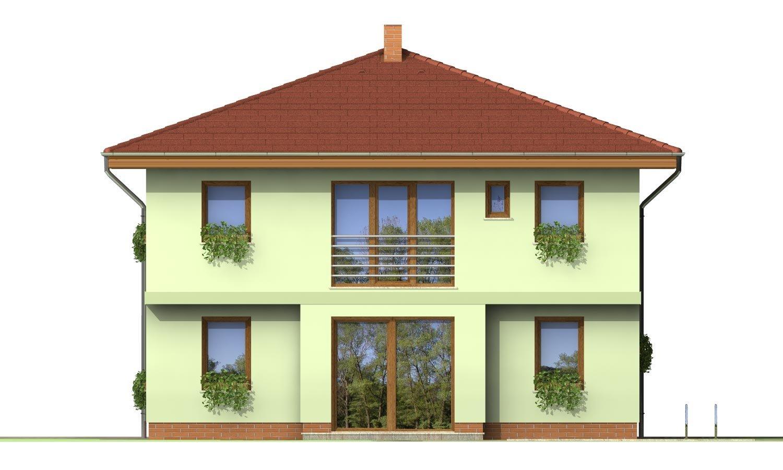 Pohľad 3. - Klasický poschodový rodinný dom so stanovou strechou