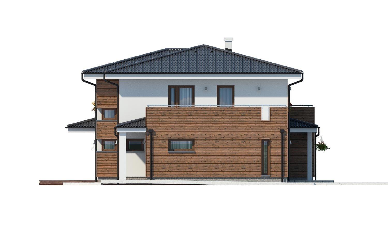 Pohľad 4. - Dom pre náročných stavebníkov s dvojgarážou