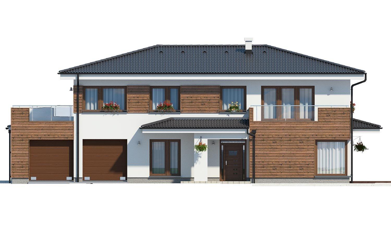 Pohľad 1. - Dom pre náročných stavebníkov s dvojgarážou