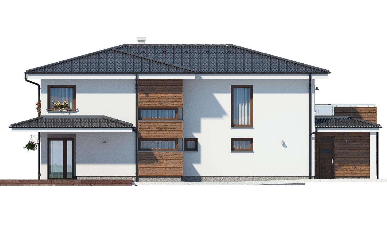 Pohľad 3. - Dom pre náročných stavebníkov s dvojgarážou