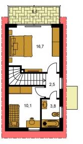 Pôdorys poschodia - TREND 261