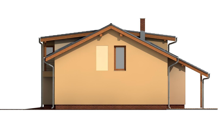 Pohľad 4. - Priestranný dom s garážou a galériou v obývacej izbe.