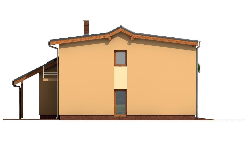 Pohľad 2. - Priestranný dom s garážou a galériou v obývacej izbe.
