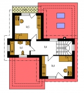 Pôdorys poschodia - TREND 263