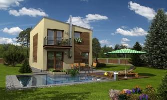 Projekt moderného rodinného domu na úzky pozemok