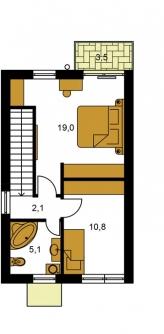 Pôdorys poschodia - TREND 264